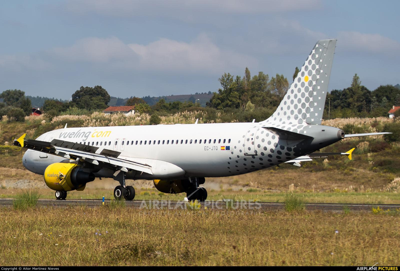 Vueling Airlines EC-JTQ aircraft at Bilbao