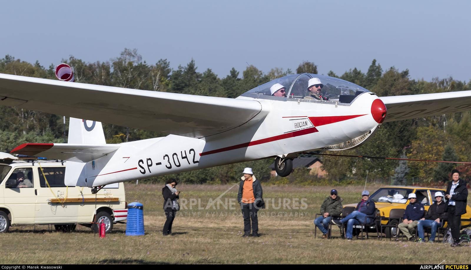 Aeroklub Warszawski SP-3042 aircraft at Warsaw - Babice