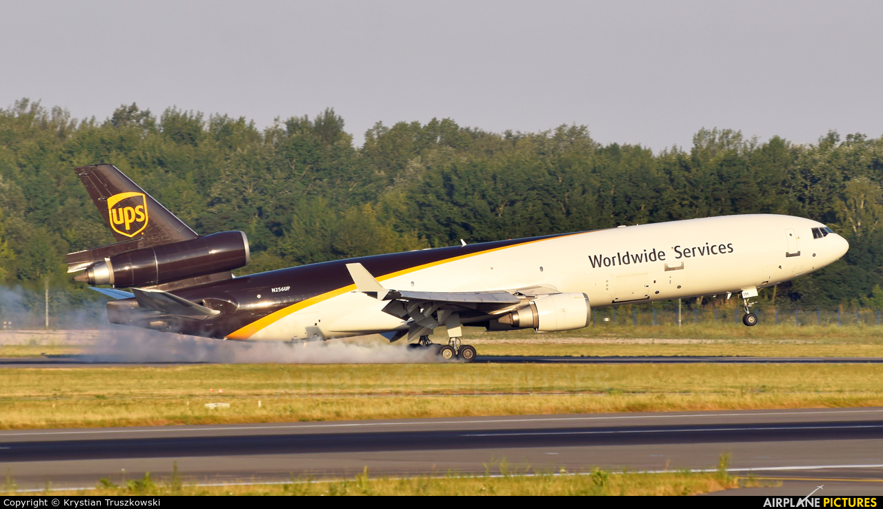 UPS - United Parcel Service N256UP aircraft at Warsaw - Frederic Chopin