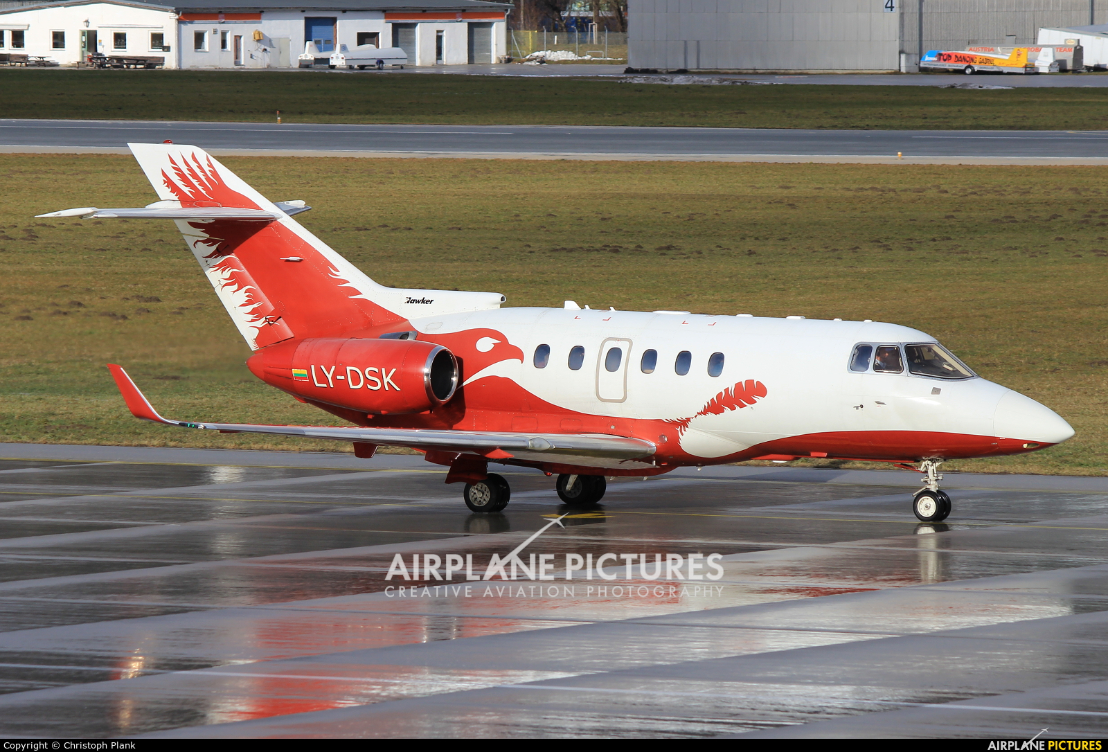 Classic Jet LY-DSK aircraft at Innsbruck