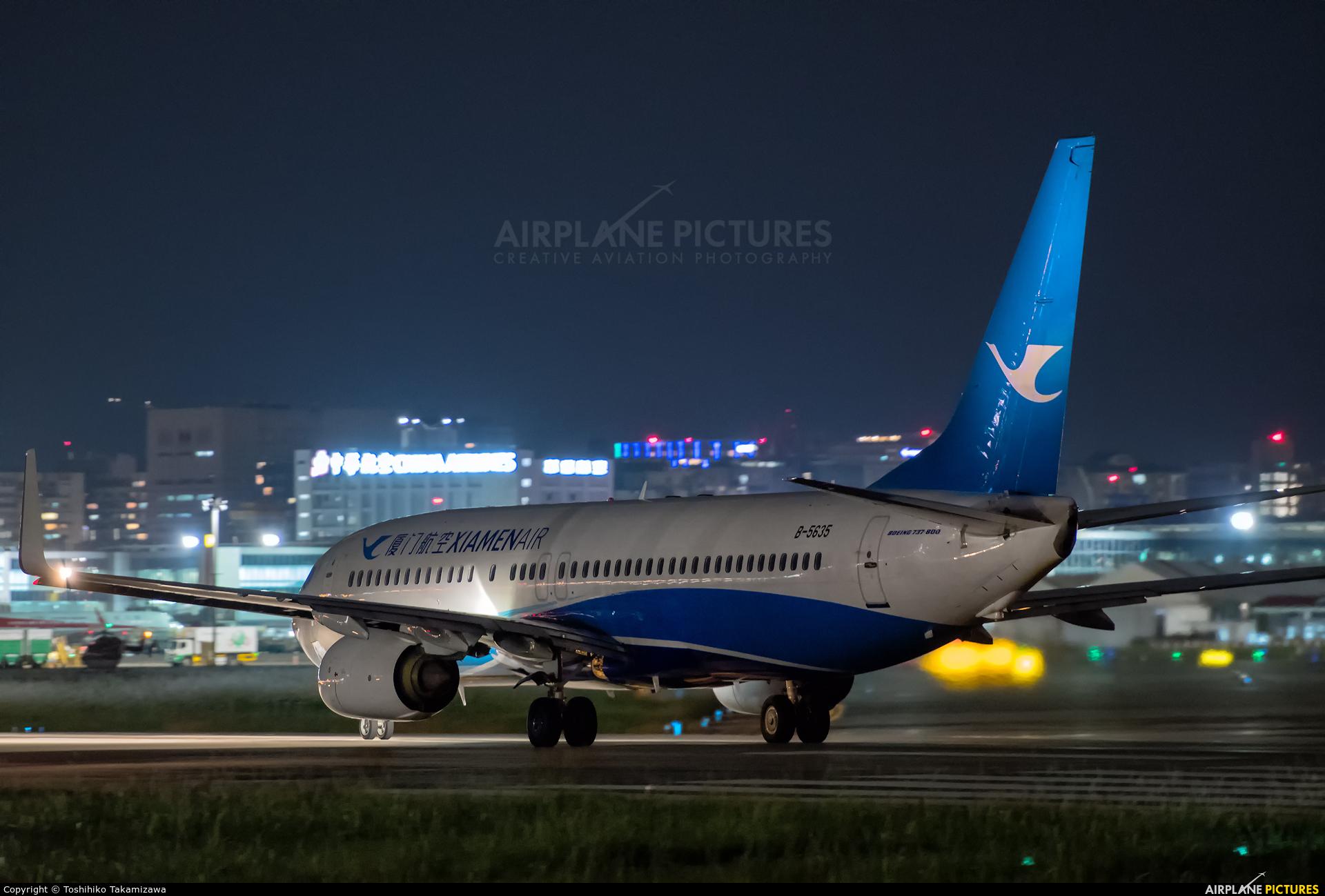 Xiamen Airlines B-5635 aircraft at Taipei - Sung Shan