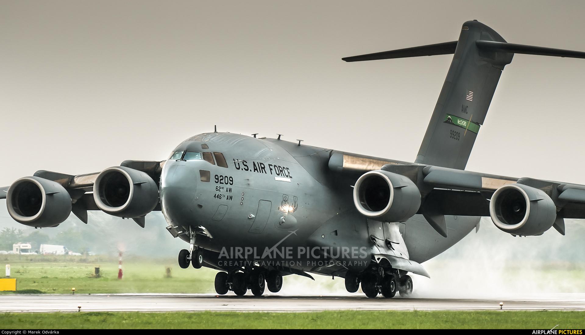 USA - Air Force 09-9209 aircraft at Ostrava Mošnov