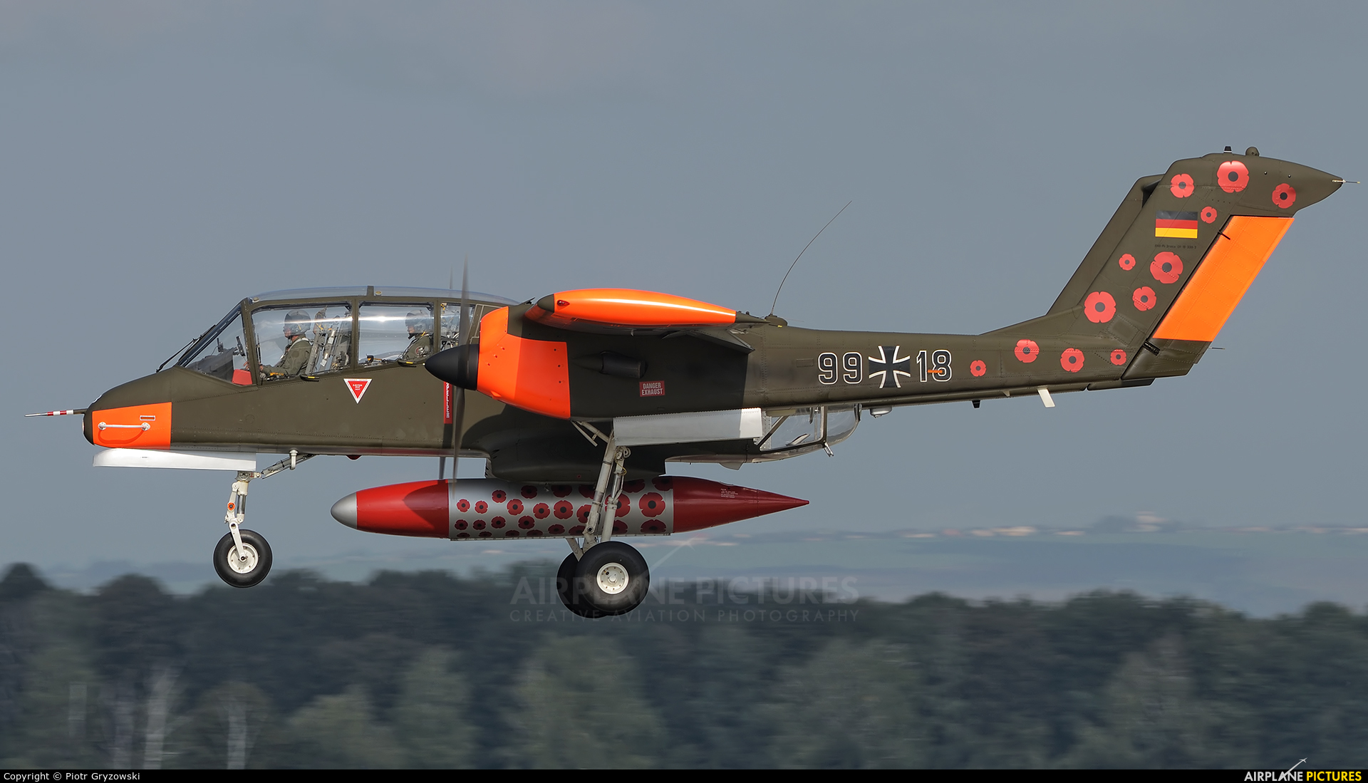 Bronco Demo Team G-ONAA aircraft at Ostrava Mošnov
