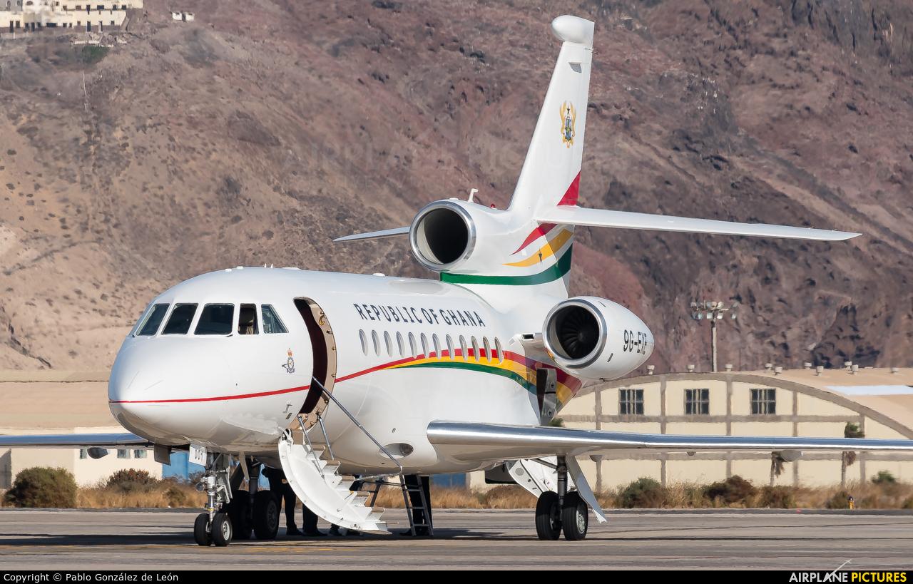 Ghana - Government 9G-EXE aircraft at Aeropuerto de Gran Canaria