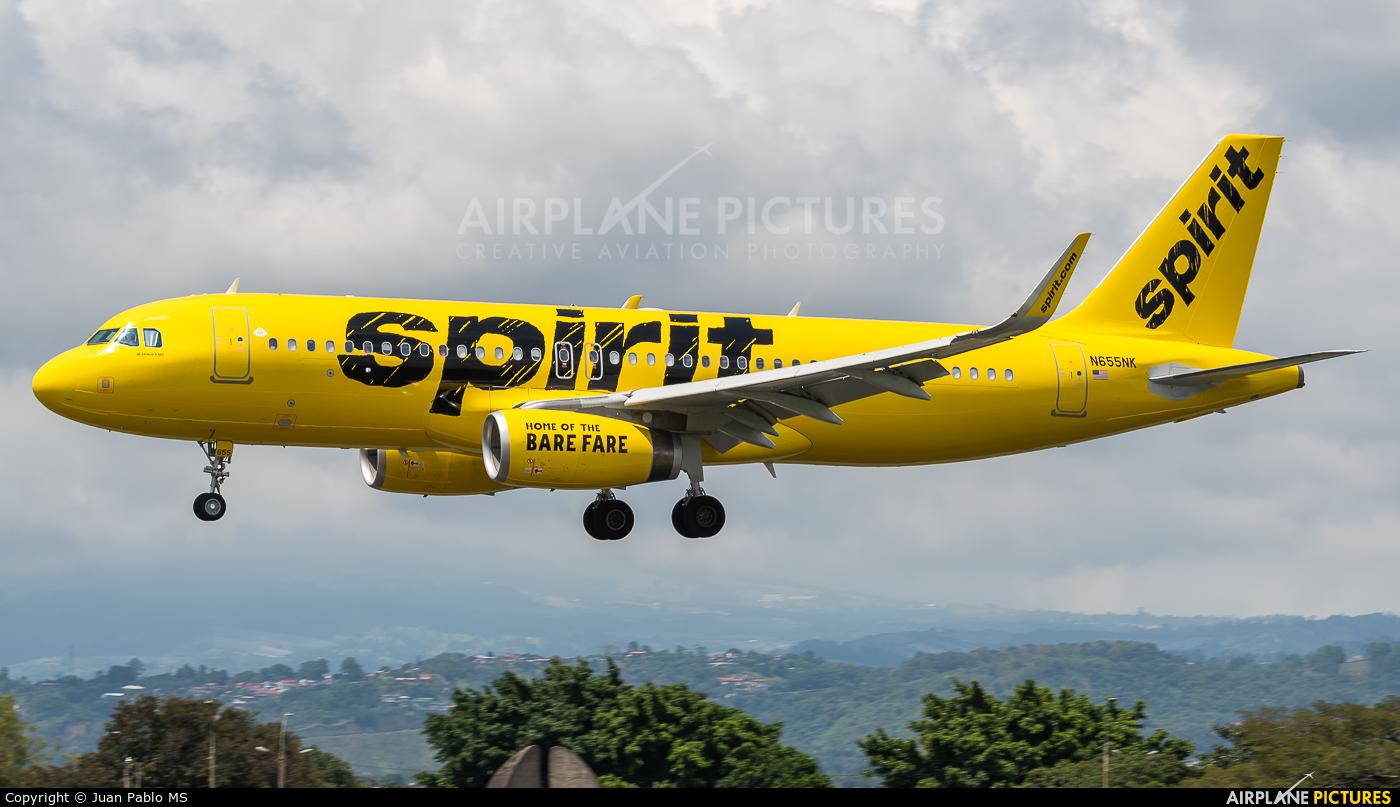Spirit Airlines N655NK aircraft at San Jose - Juan Santamaría Intl