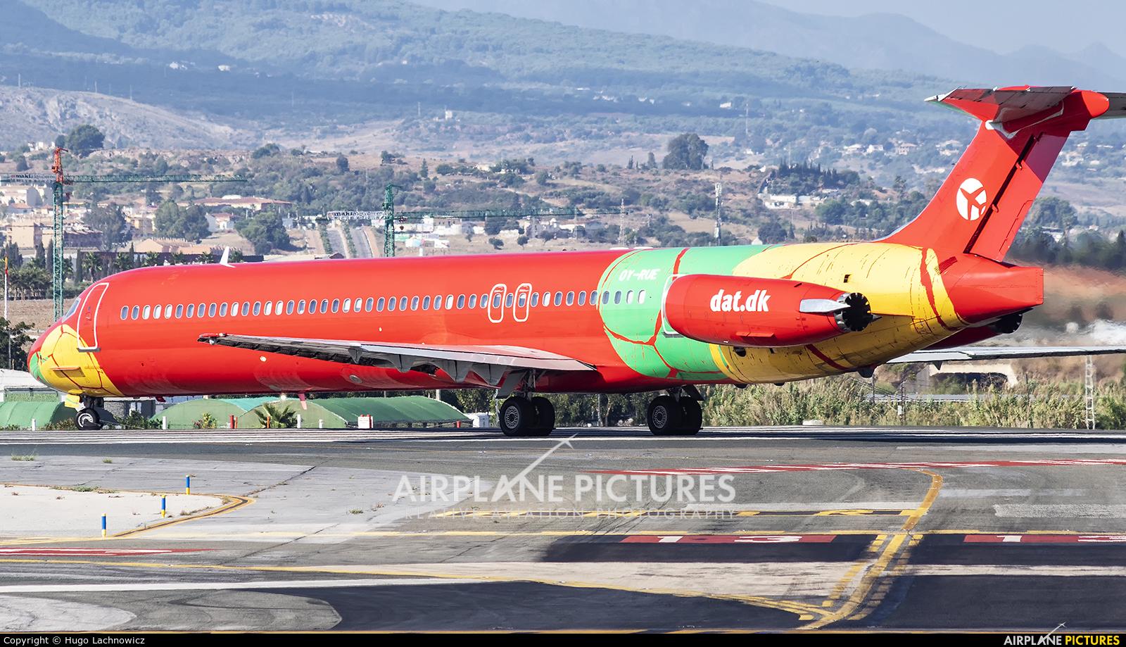 Danish Air Transport OY-RUE aircraft at Málaga