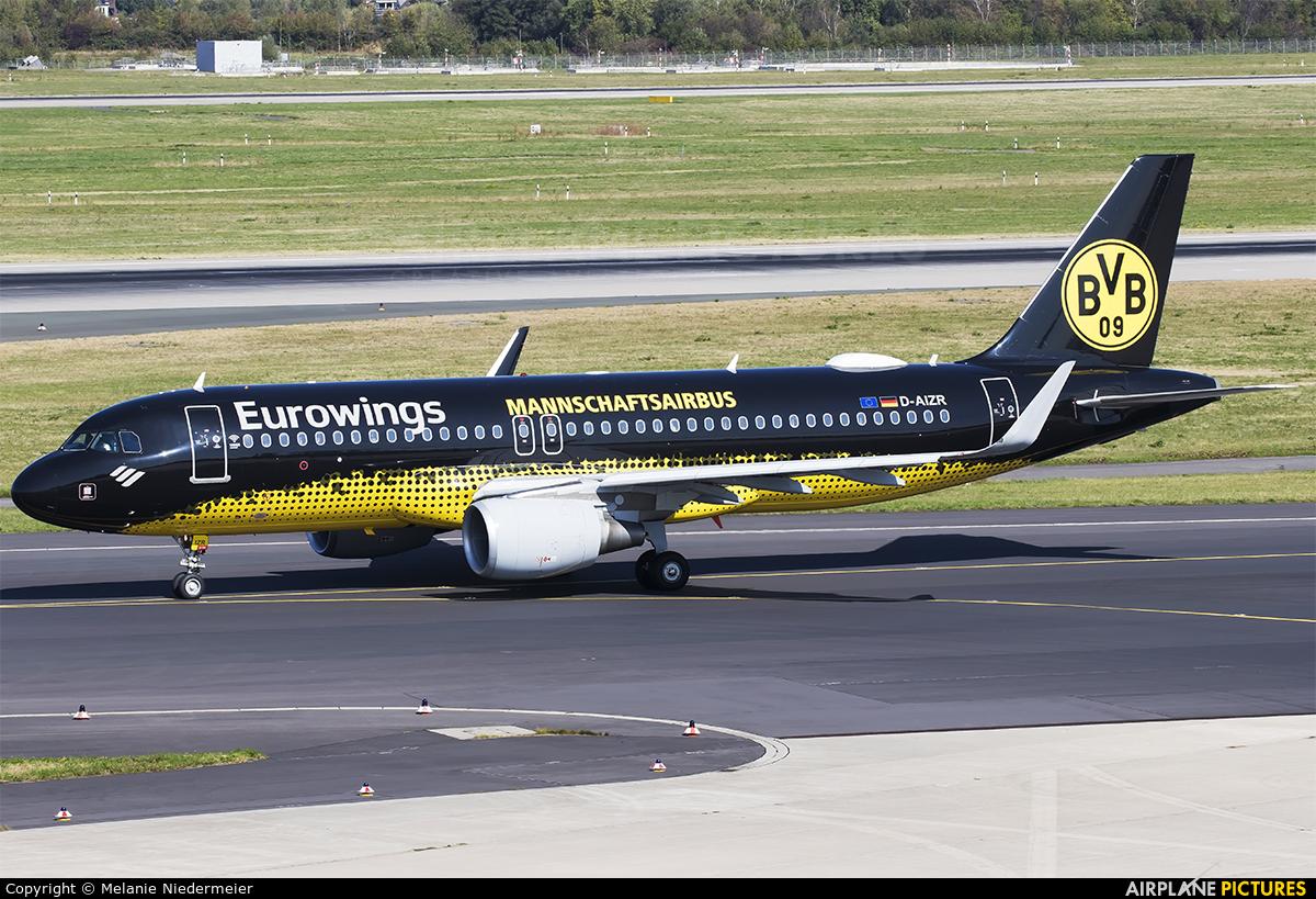 Eurowings D-AIZR aircraft at Düsseldorf