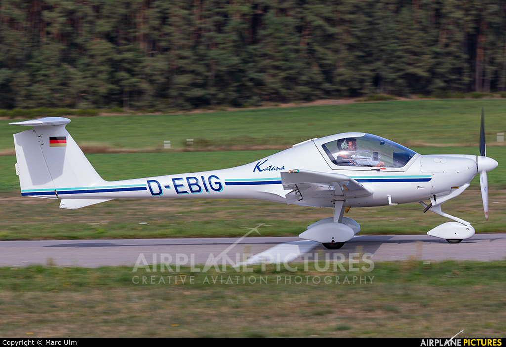 Private D-EBIG aircraft at Schwabach