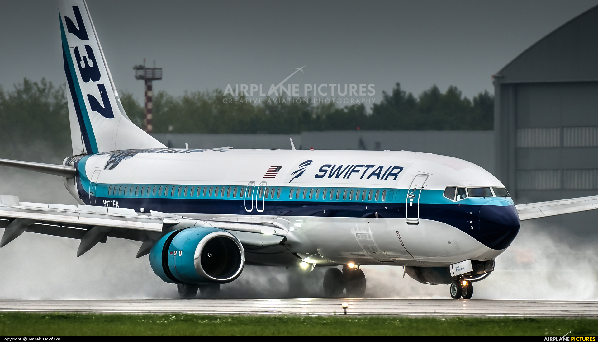 Swift Air N277EA aircraft at Ostrava Mošnov