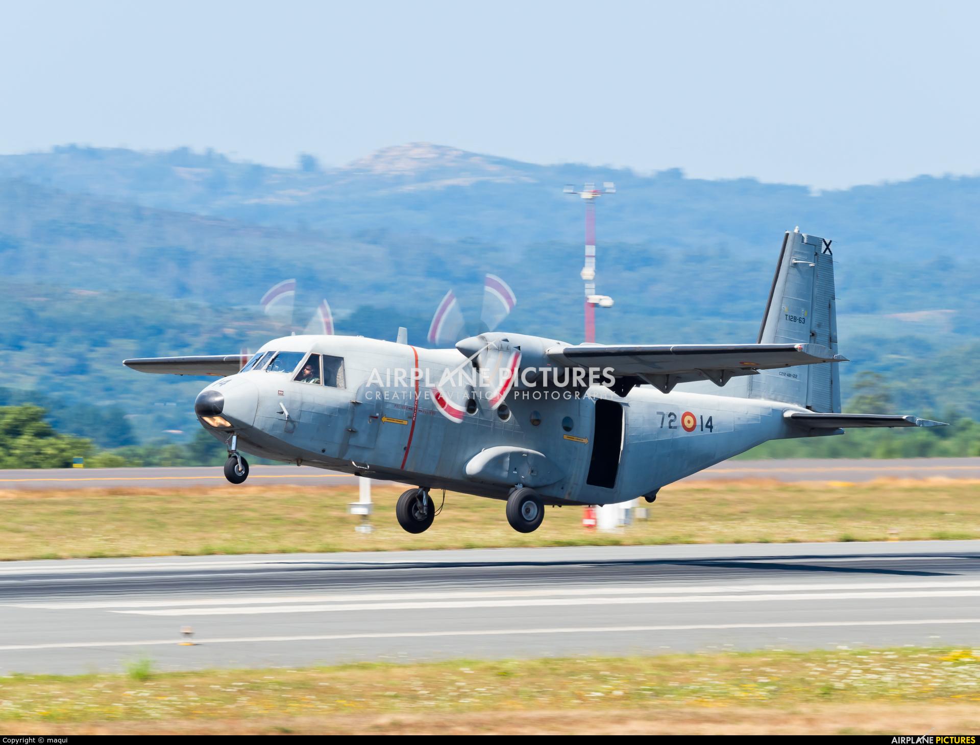 Spain - Air Force T.12B-63 aircraft at Santiago de Compostela