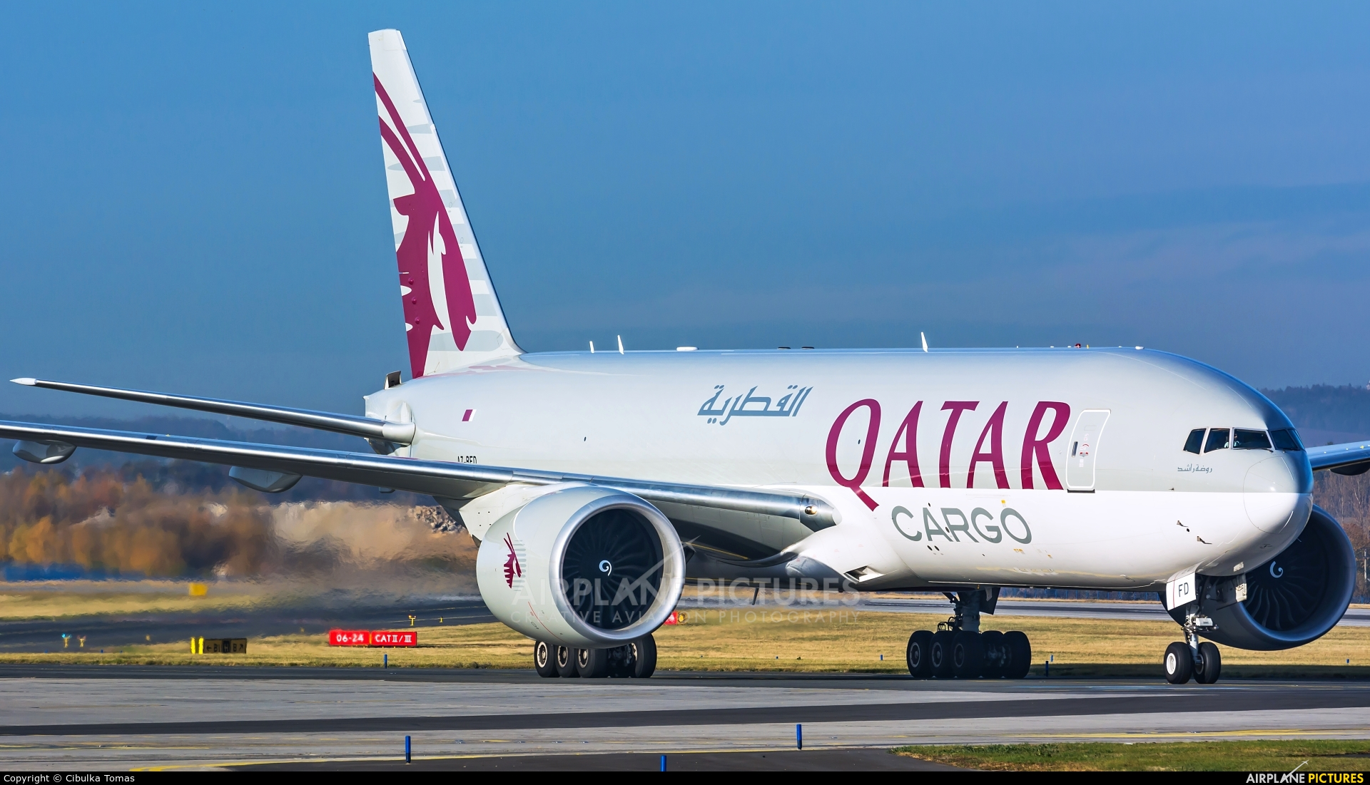Qatar Airways Cargo A7-BFD aircraft at Prague - Václav Havel