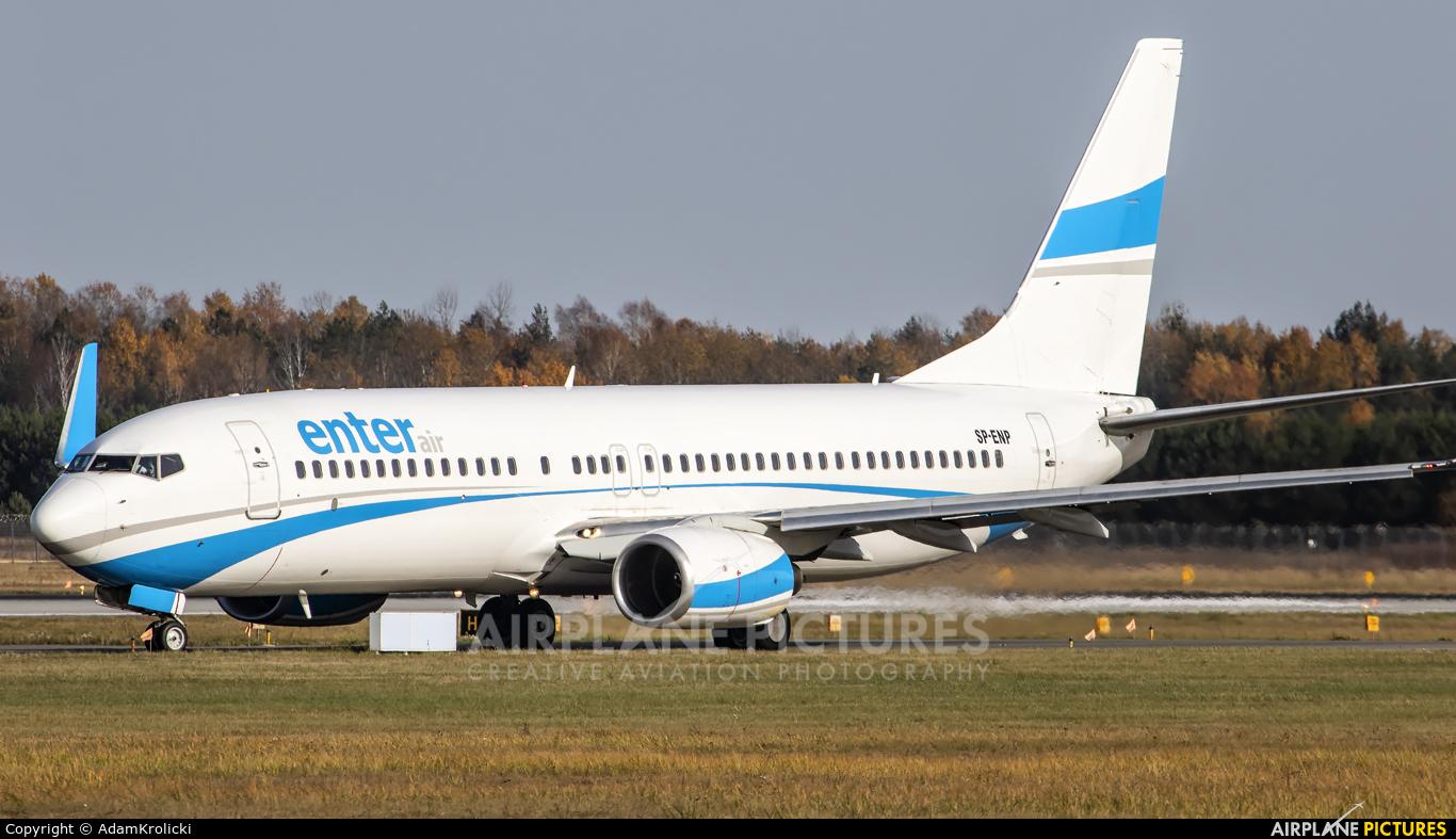 Enter Air SP-ENP aircraft at Katowice - Pyrzowice