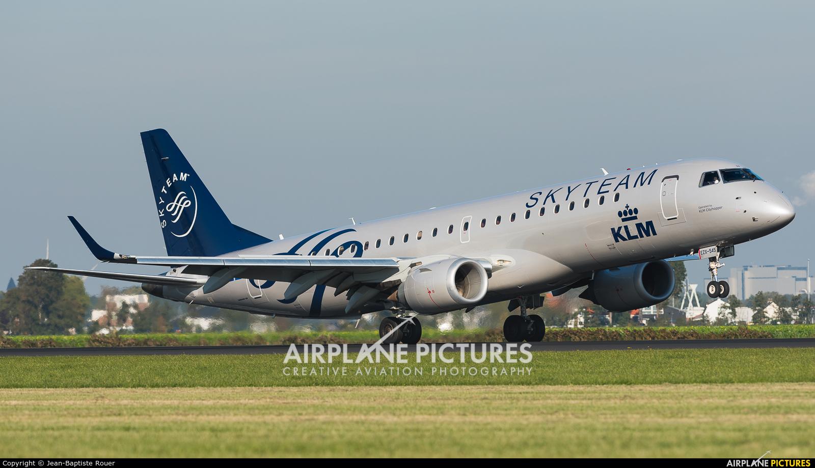 KLM Cityhopper PH-EZX aircraft at Amsterdam - Schiphol