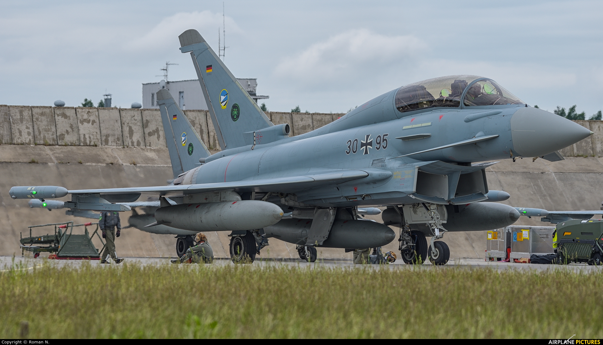 Germany - Air Force 30+95 aircraft at Poznań - Krzesiny
