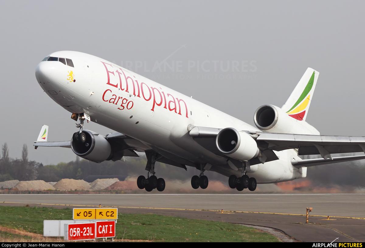 Ethiopian Cargo ET-AND aircraft at Liège-Bierset