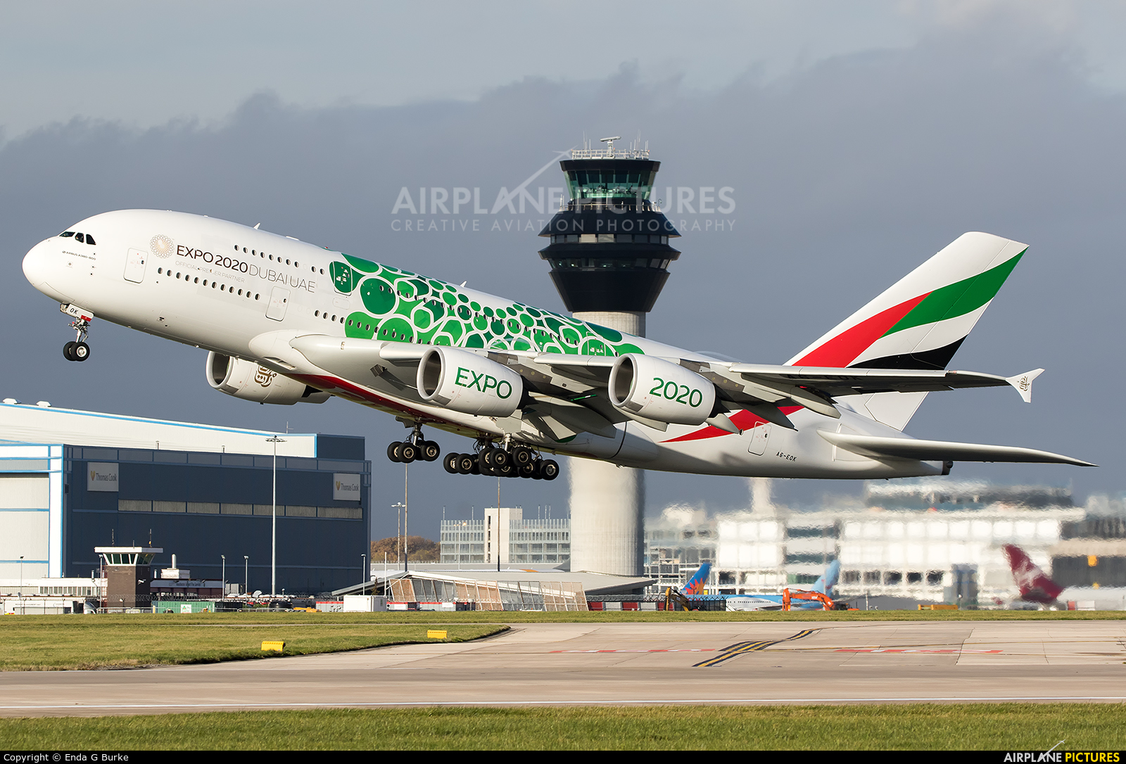 Emirates Airlines A6-EOK aircraft at Manchester