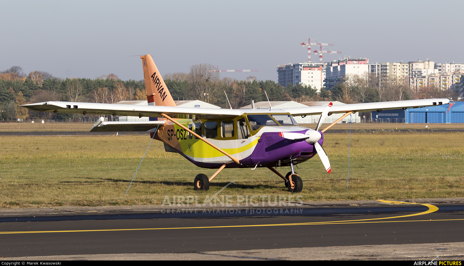 Private SP-OSZ aircraft at Warsaw - Babice
