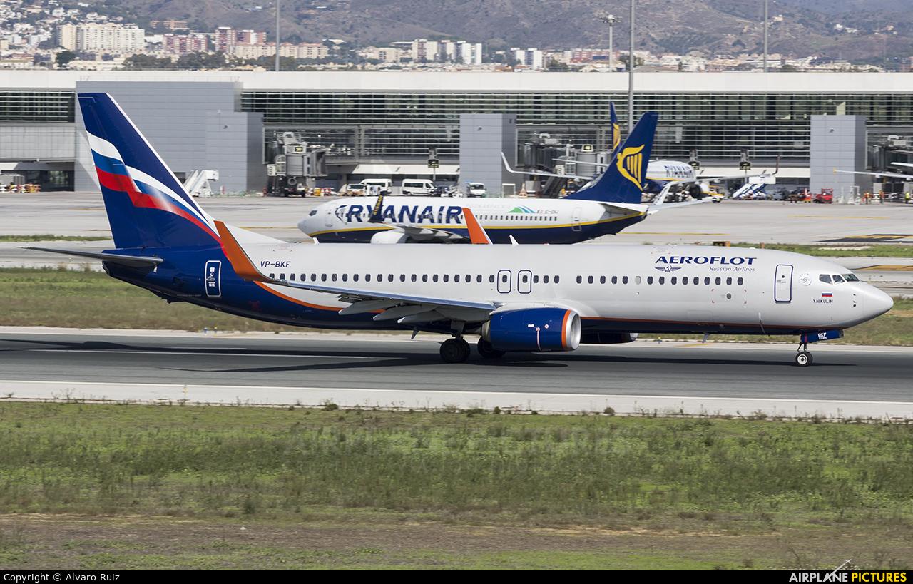 Aeroflot VP-BKF aircraft at Málaga