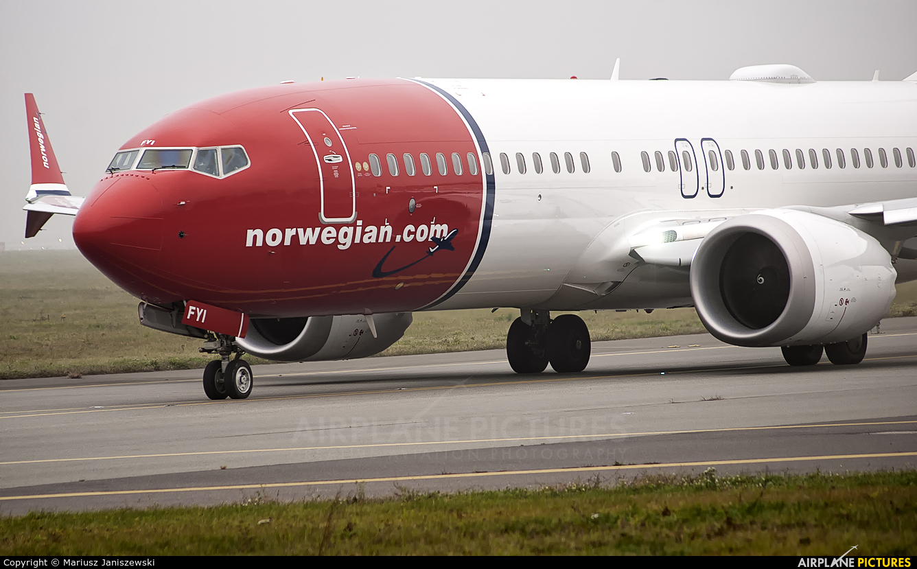 Norwegian Air International EI-FYI aircraft at Warsaw - Frederic Chopin