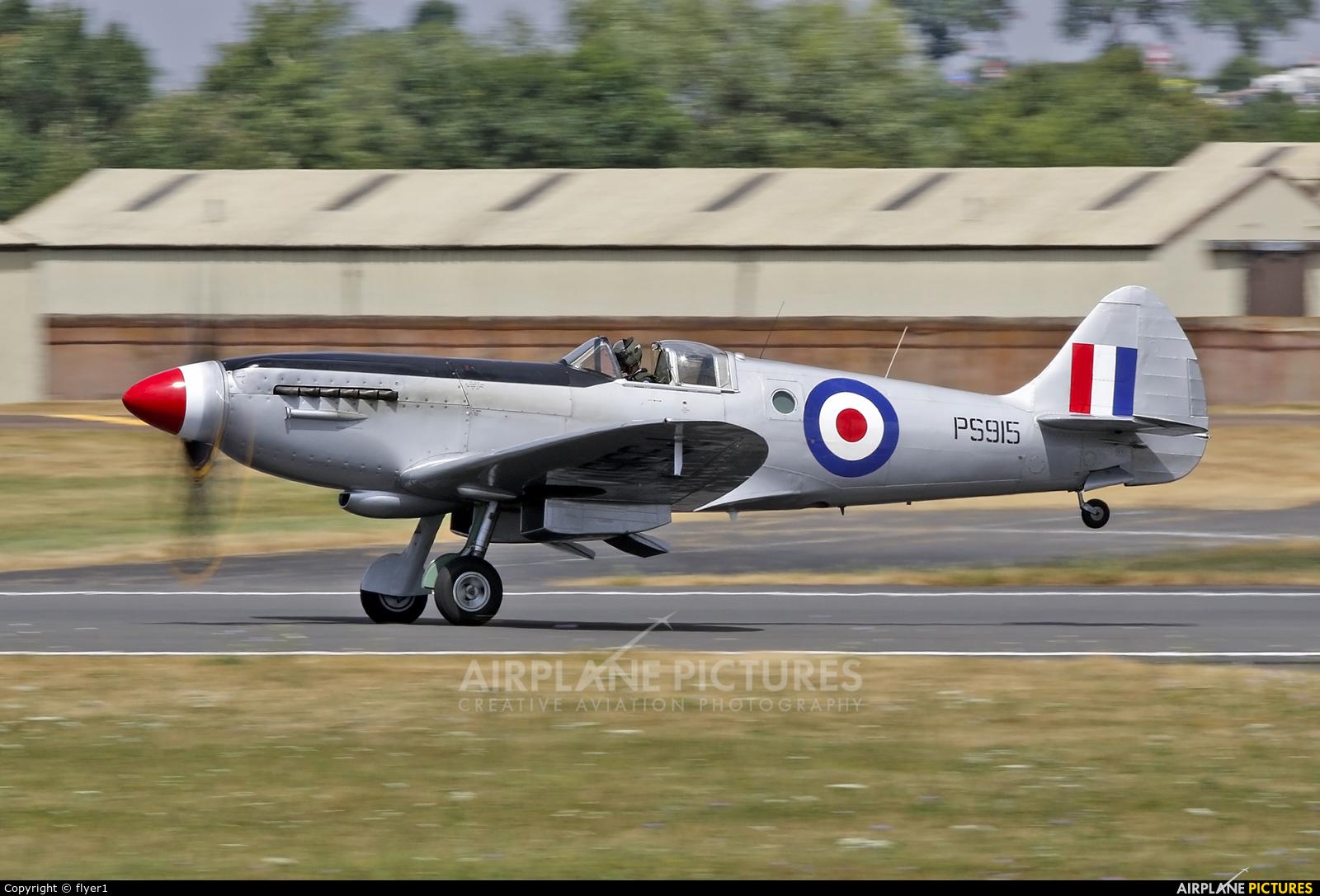 "Royal Air Force ""Battle of Britain Memorial Flight&quot PS915 aircraft at Fairford"