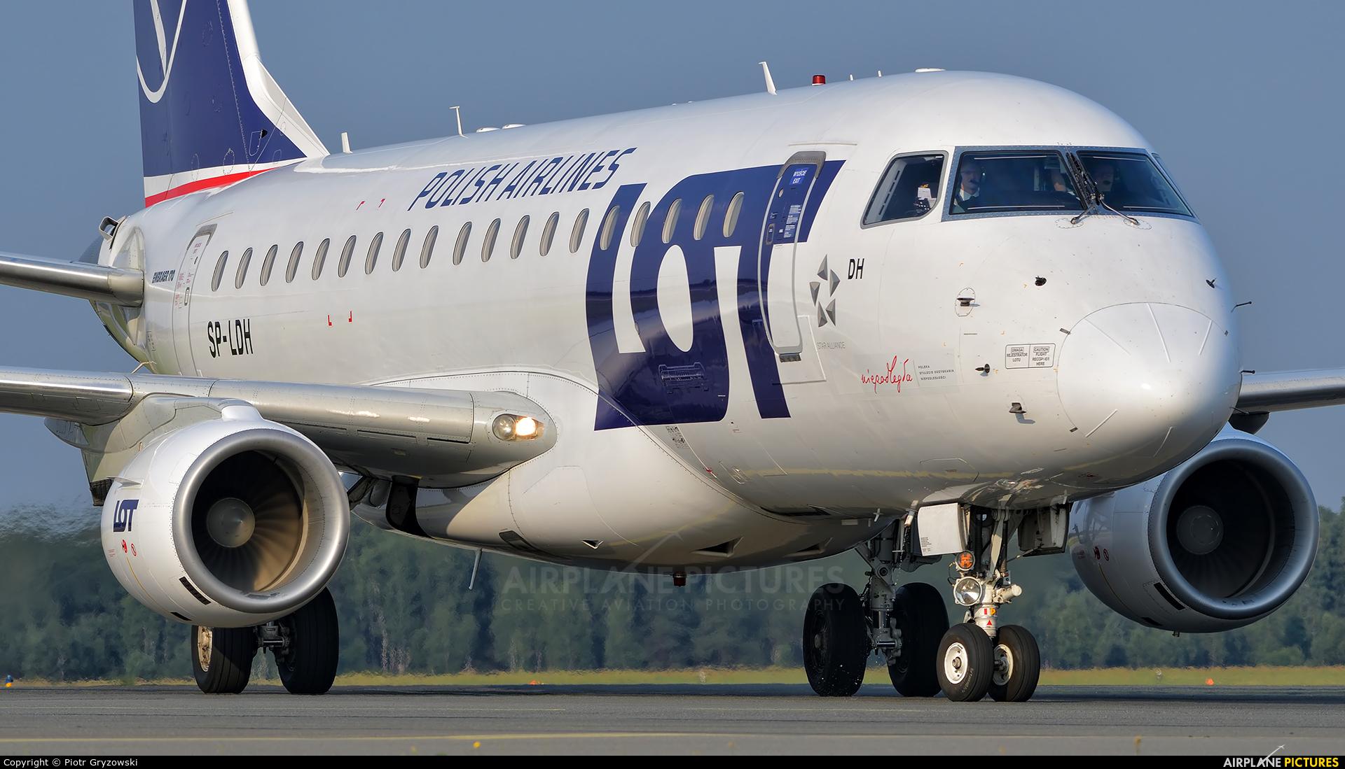 LOT - Polish Airlines SP-LDH aircraft at Katowice - Pyrzowice
