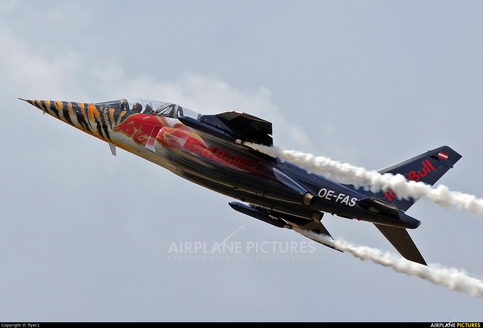 Red Bull OE-FAS aircraft at Farnborough