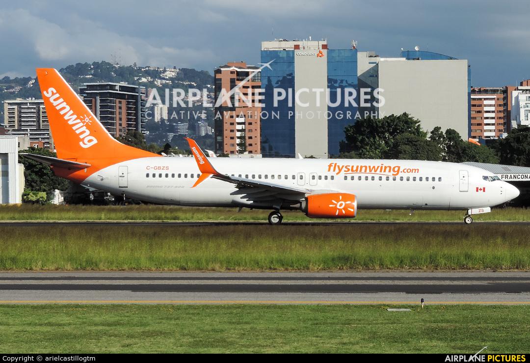 Sunwing Airlines C-GBZS aircraft at Guatemala - La Aurora