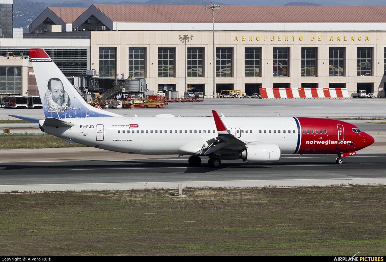 Norwegian Air Shuttle EI-FJD aircraft at Málaga