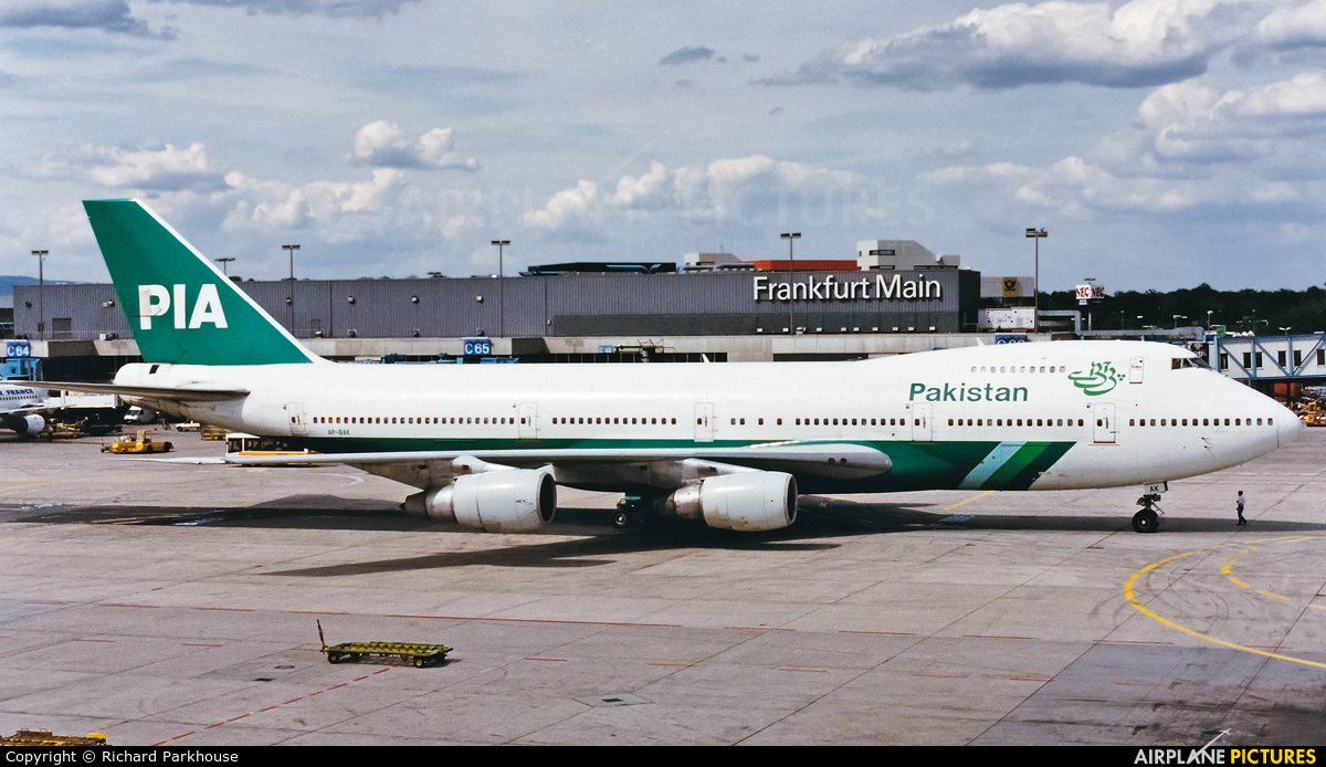 PIA - Pakistan International Airlines AP-BAK aircraft at Frankfurt
