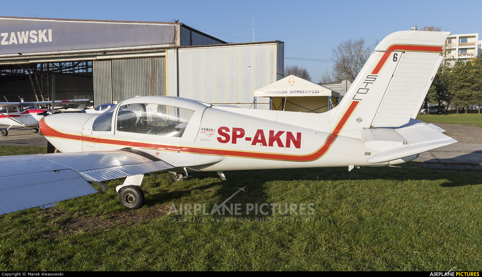 Private SP-AKN aircraft at Warsaw - Babice