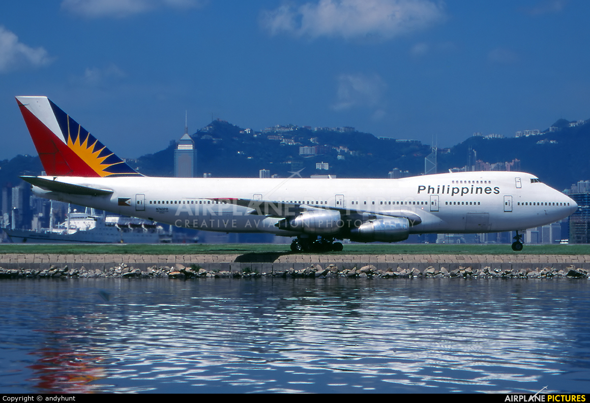 Philippines Airlines N743PR aircraft at HKG - Kai Tak Intl CLOSED