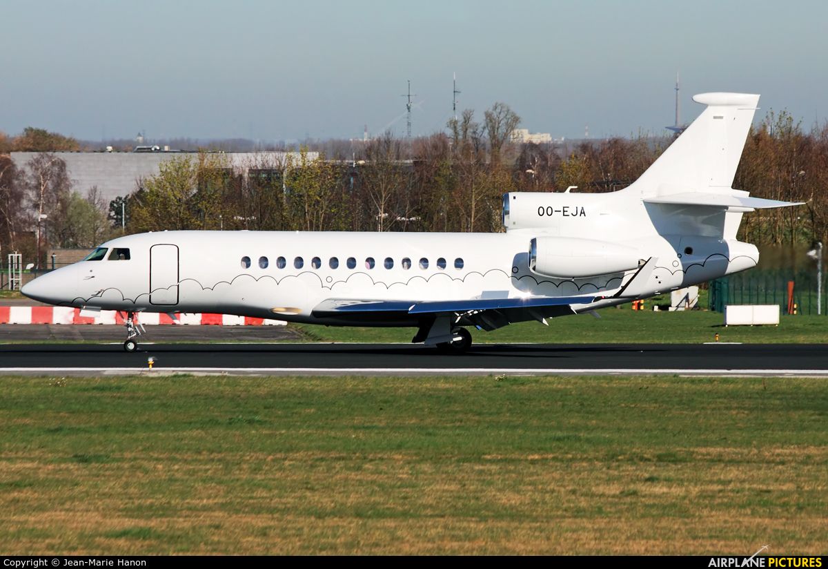 Abelag Aviation OO-EJA aircraft at Brussels - Zaventem