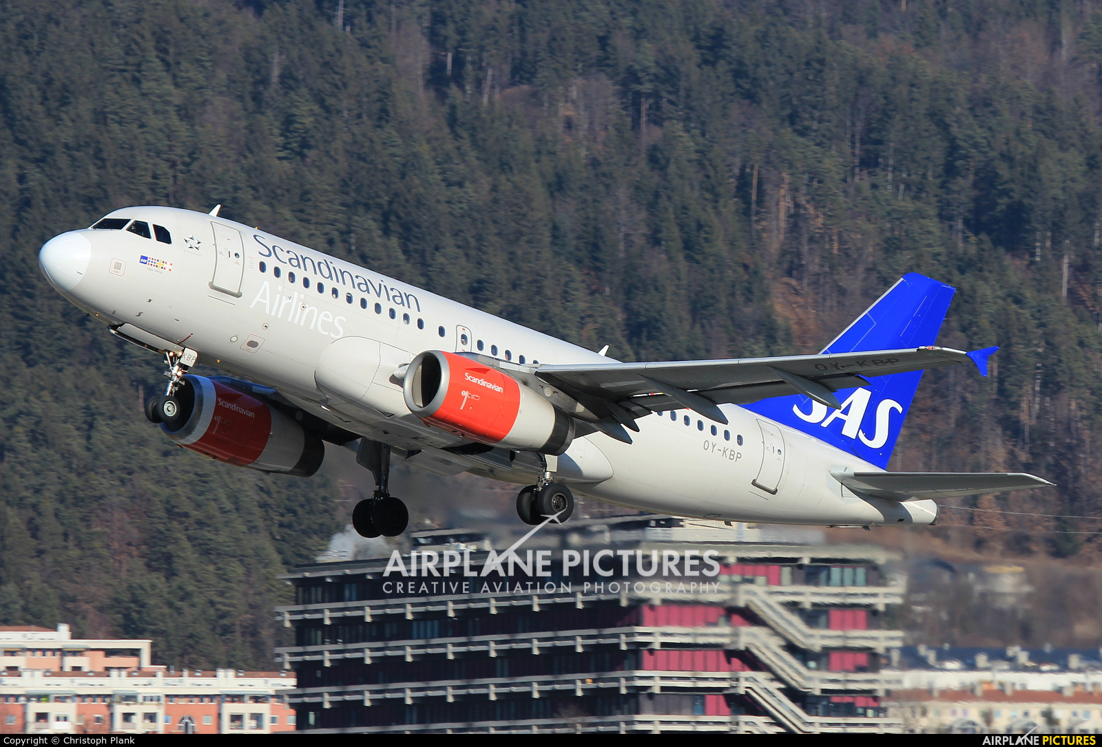 SAS - Scandinavian Airlines OY-KBP aircraft at Innsbruck
