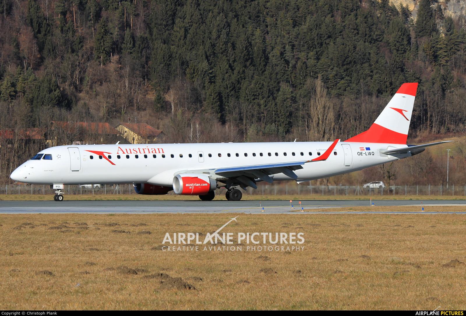 Austrian Airlines/Arrows/Tyrolean OE-LWQ aircraft at Innsbruck