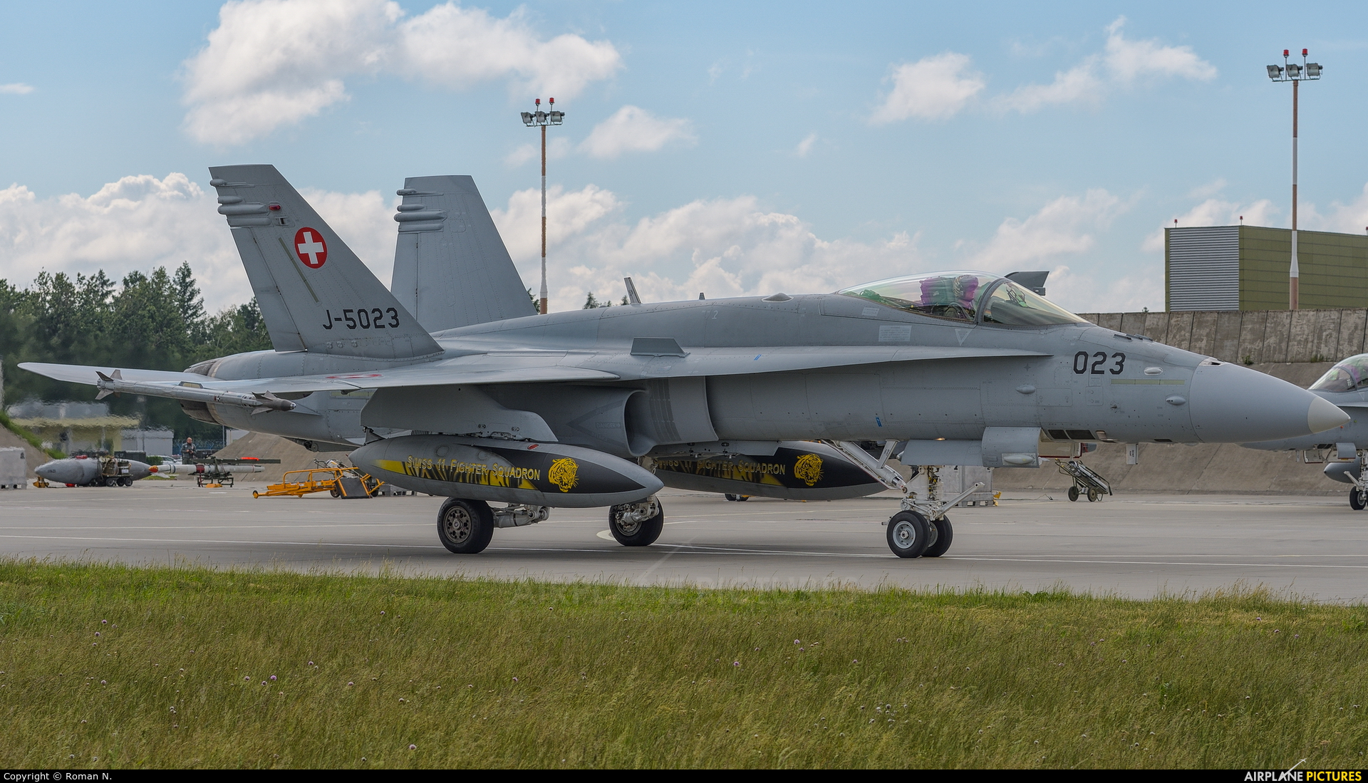 Switzerland - Air Force J-5023 aircraft at Poznań - Krzesiny