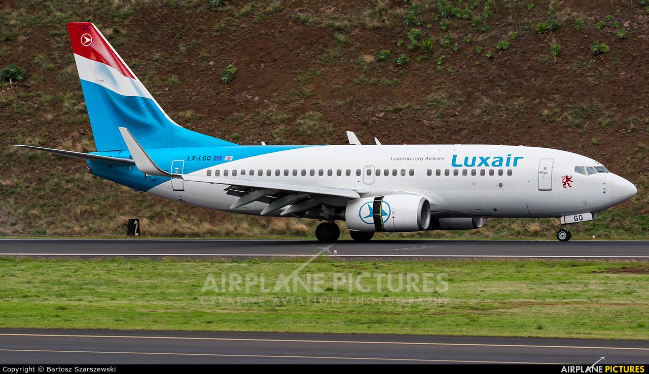 Luxair LX-LGQ aircraft at Madeira