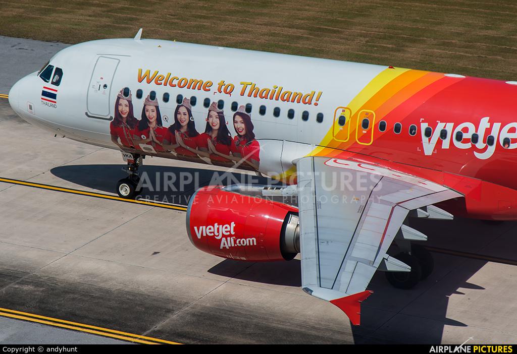 Thai Vietjet HS-VKA aircraft at Phuket