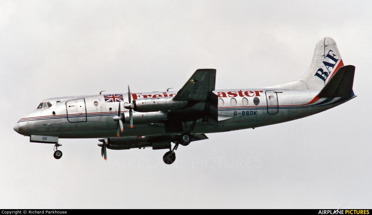British Air Ferries  BAF G-BBDK aircraft at London - Heathrow