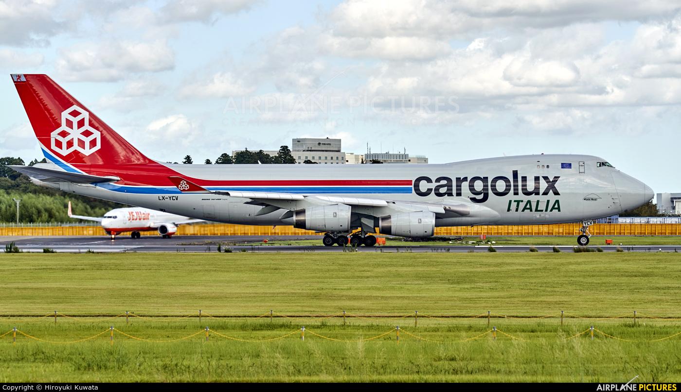 Cargolux Italia LX-YCV aircraft at Tokyo - Narita Intl