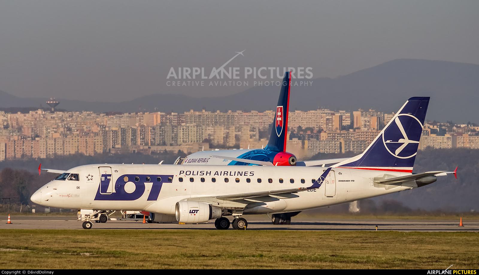 LOT - Polish Airlines SP-LDE aircraft at Košice - Barca