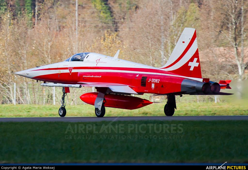 Switzerland - Air Force:  Patrouille de Suisse J-3082 aircraft at Meiringen