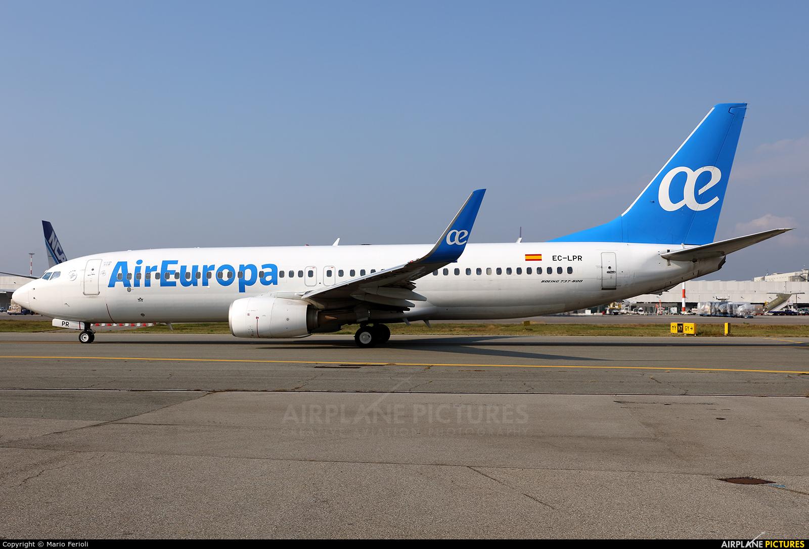 Air Europa EC-LPR aircraft at Milan - Malpensa