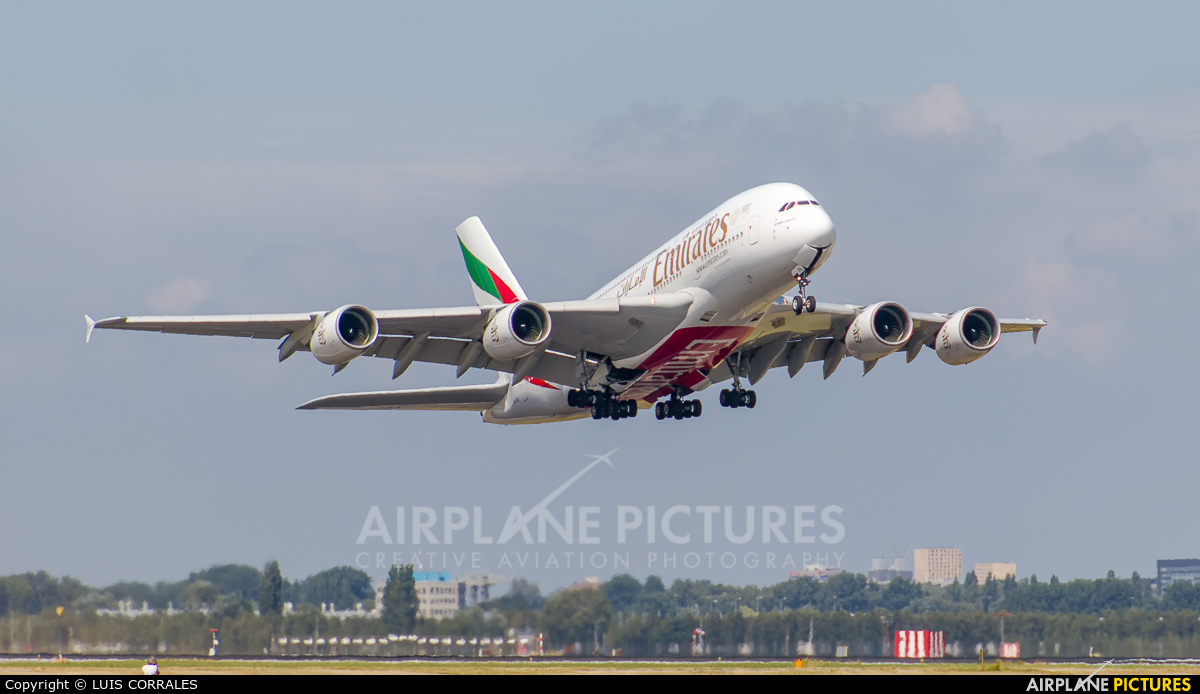 Emirates Airlines A6-EDL aircraft at Amsterdam - Schiphol