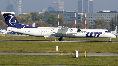 OY-YBY - LOT - Polish Airlines de Havilland Canada DHC-8-400Q / Bombardier Q400
