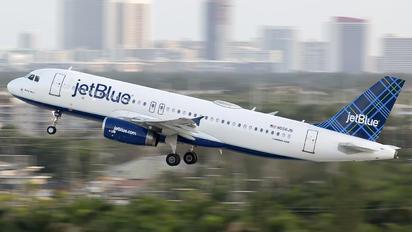 N556JB - JetBlue Airways Airbus A320