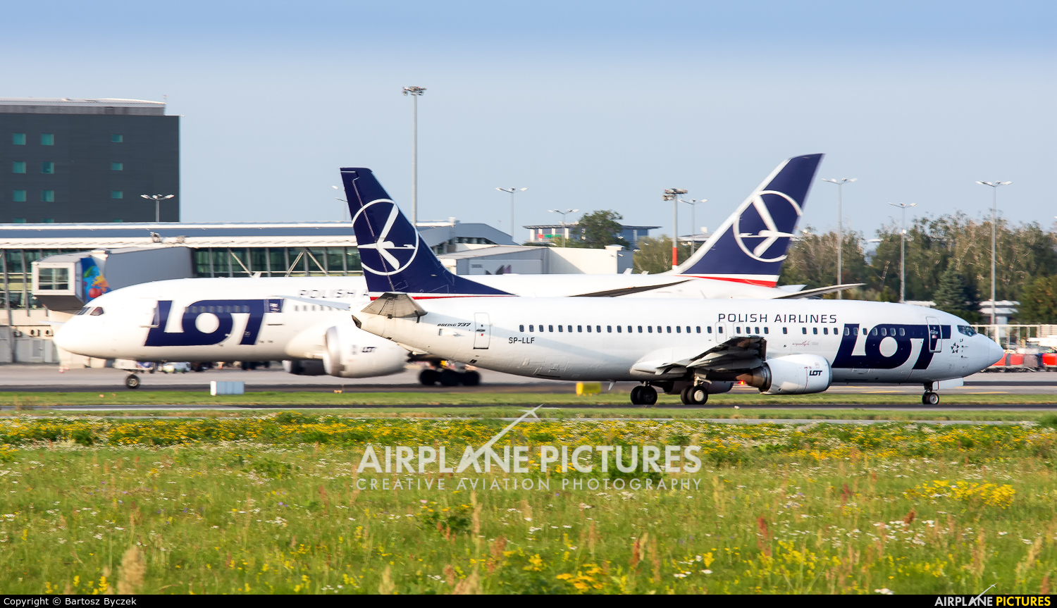 LOT - Polish Airlines SP-LLF aircraft at Warsaw - Frederic Chopin