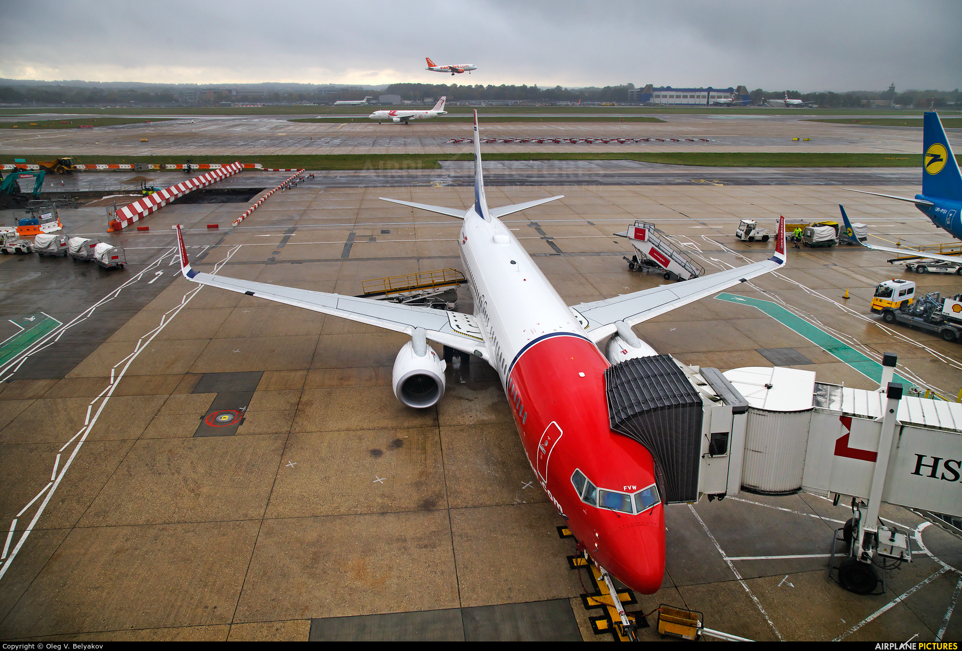 Norwegian Air International EI-FVW aircraft at London - Gatwick