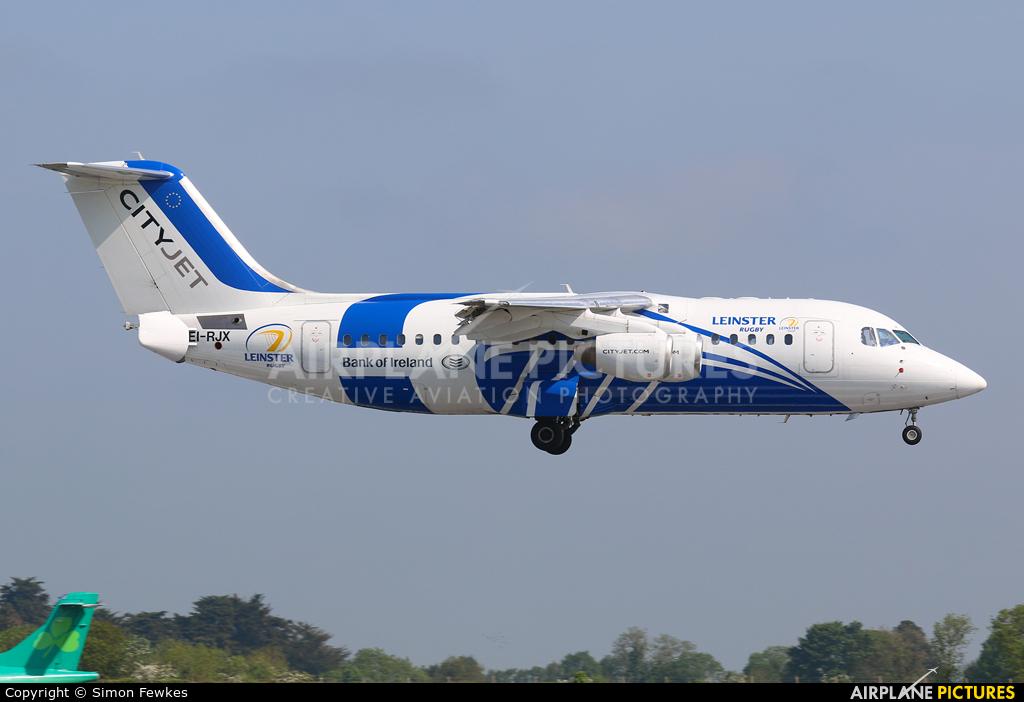CityJet EI-RJX aircraft at Dublin
