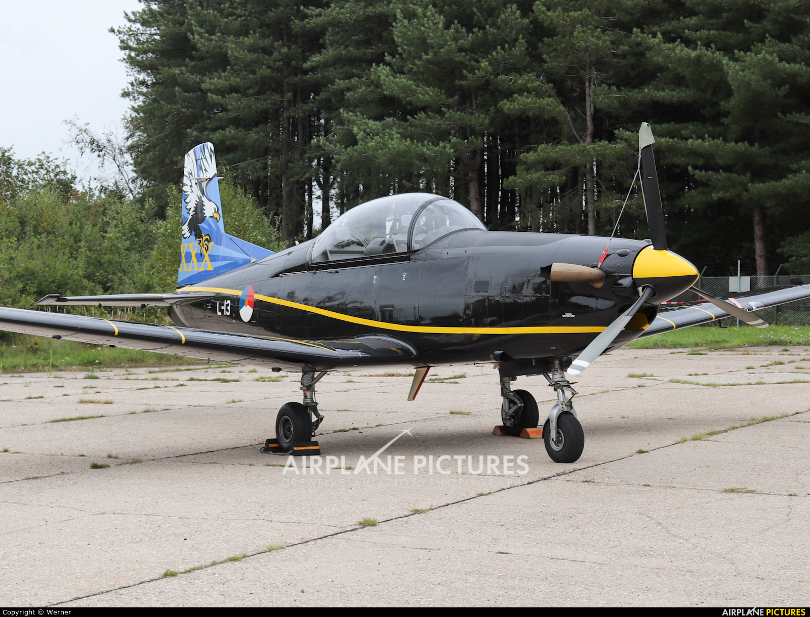 Netherlands - Air Force L-13 aircraft at Bergen op Zoom - Woensdrecht