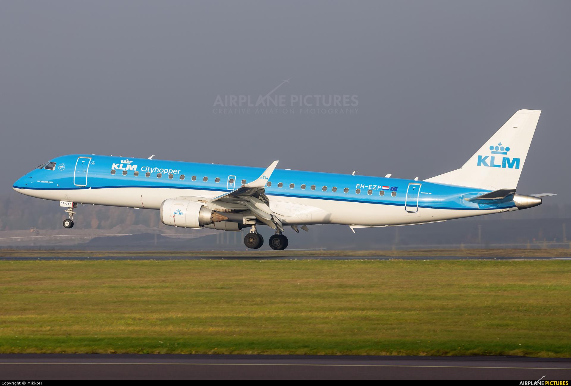 KLM Cityhopper PH-EZP aircraft at Helsinki - Vantaa
